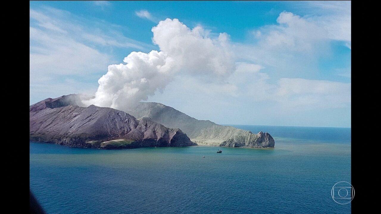 Número de mortos em erupção de vulcão na Nova Zelândia sobe para seis