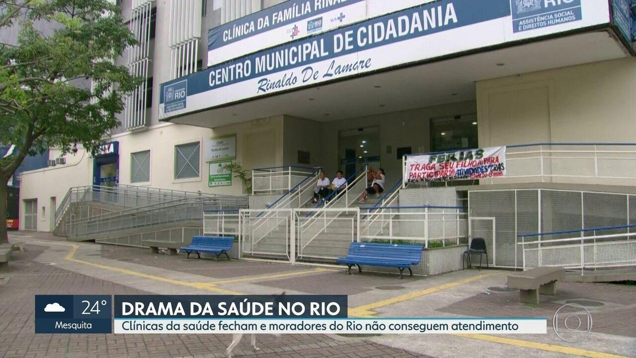 Clínicas da saúde fecham e moradores do Rio não conseguem atendimento