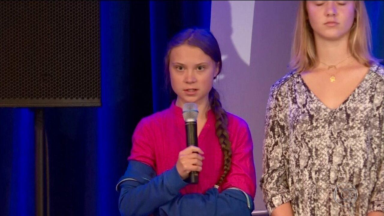 A ambientalista Greta Thunberg reagiu a um comentário do presidente Bolsonaro