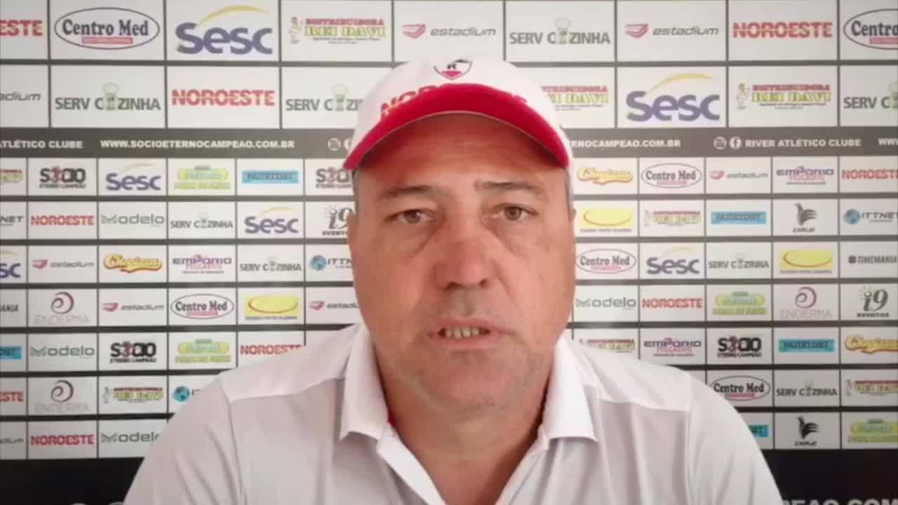 """Técnico do River-PI analisa o Bahia, rival na Copa do Brasil: """"Temos condições de igualar"""""""