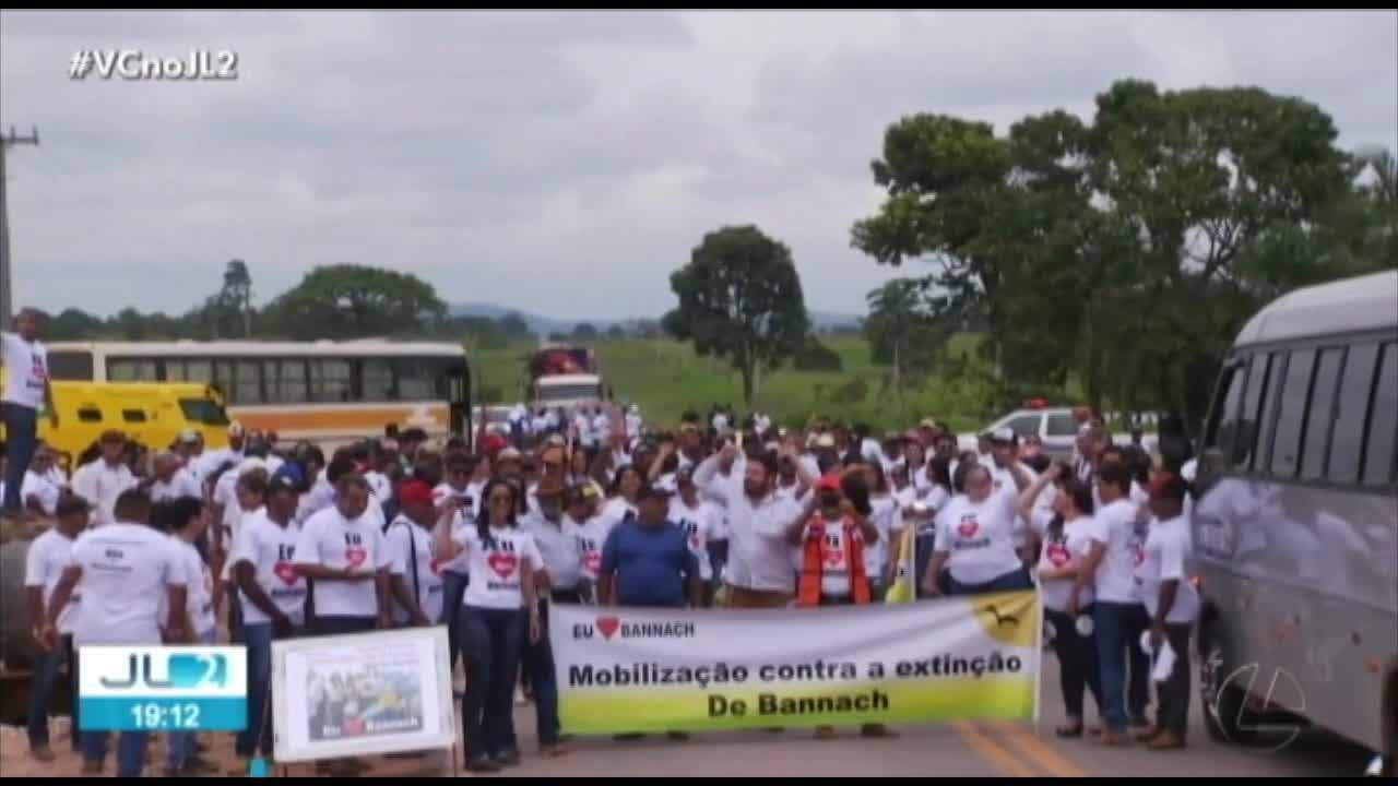Ato interdita BR-155 em Bannach, no PA, contra projeto que pode extinguir o município