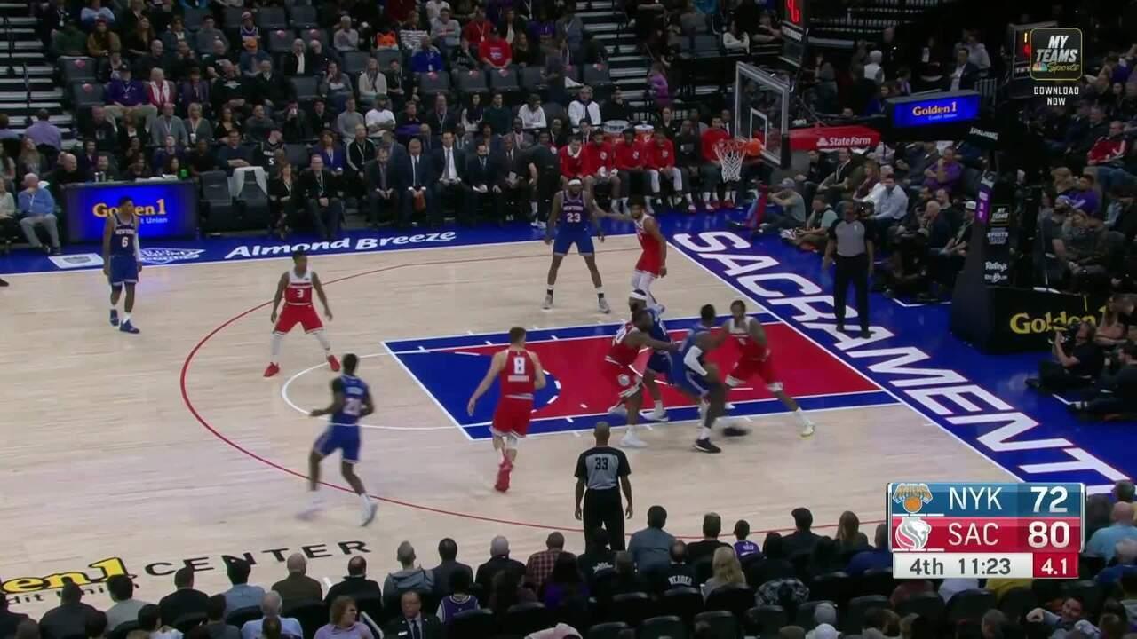 Melhores momentos de New York Knicks 103 x 101 Sacramento Kings pela NBA