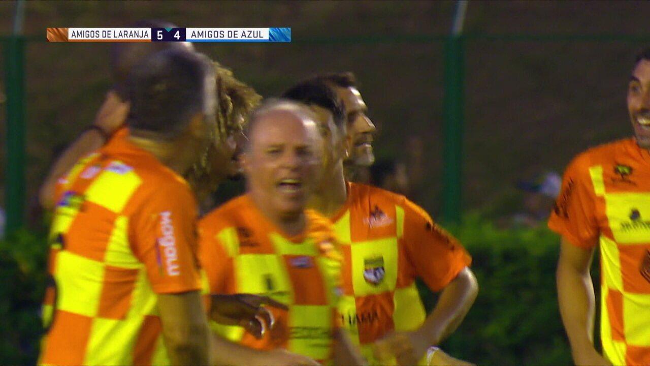 Os gols dos Amigos de Laranja 5 x 5 Amigos de Azul pelo Futebol Solidário