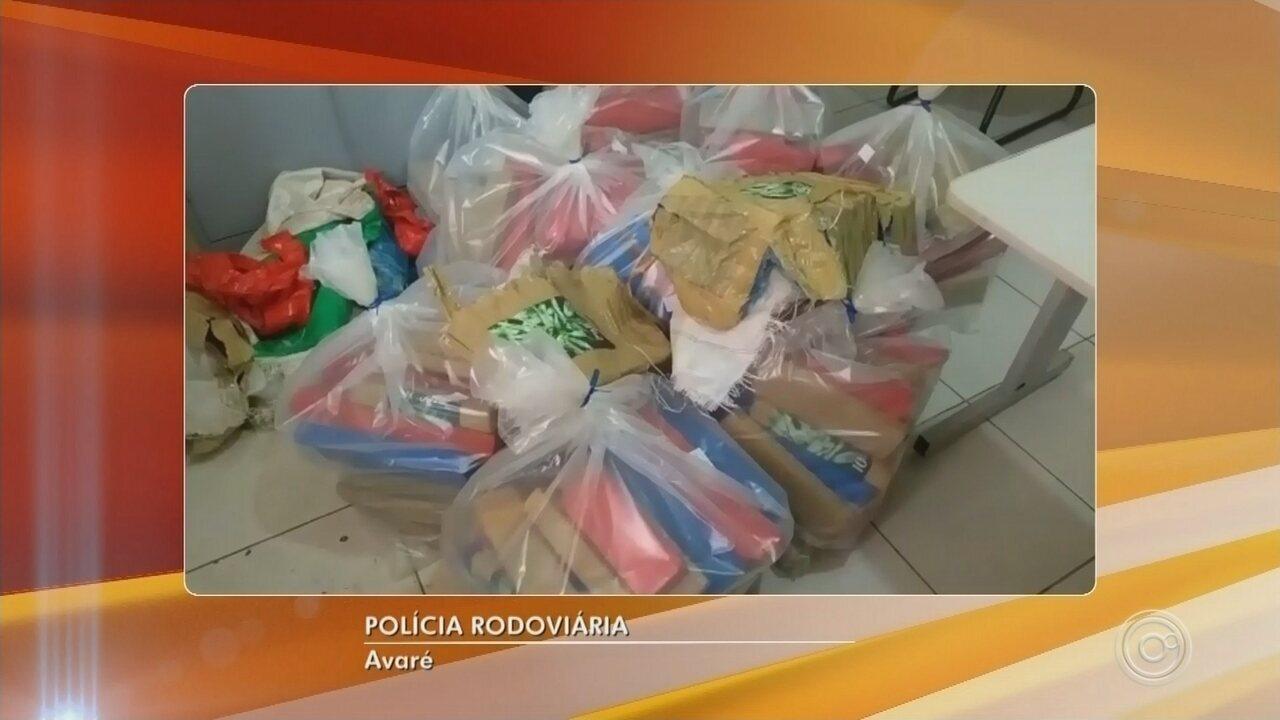 Polícia apreende cerca de 600 quilos de maconha em Avaré e Alambari