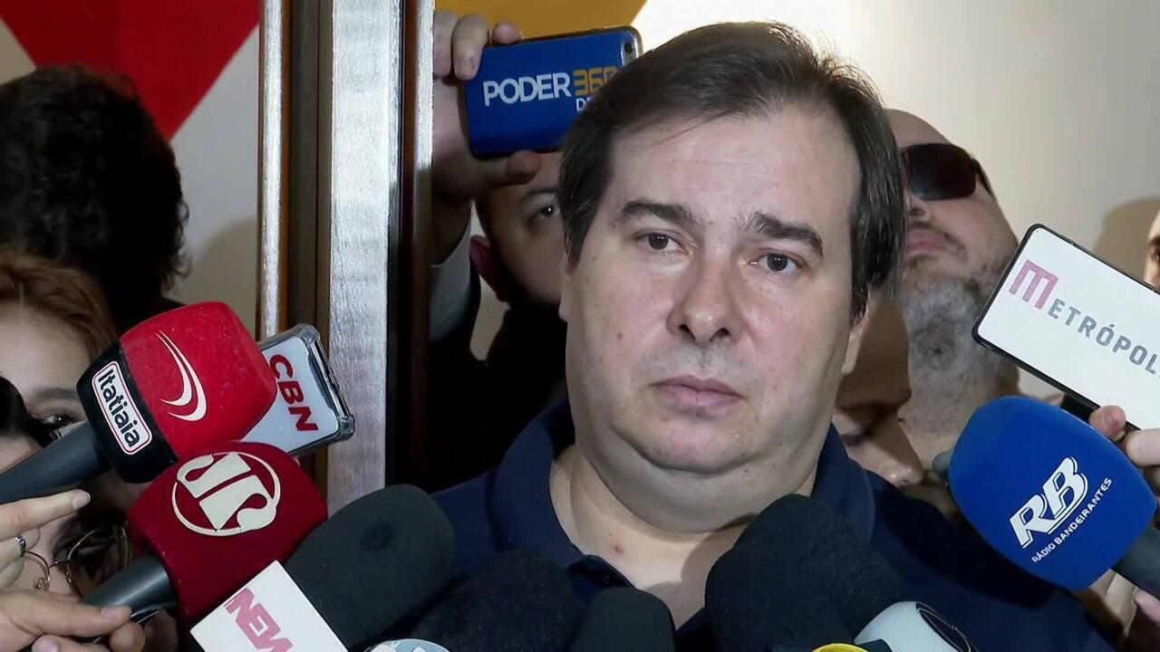 Maia sobre veto no fundo eleitoral: 'Se ele vai vetar sua própria proposta, é decisão dele