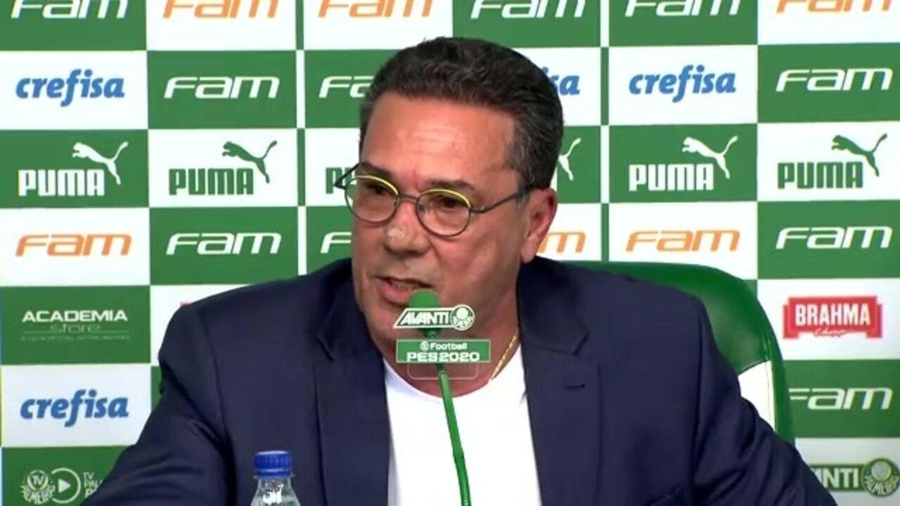 Veja como foi a apresentação do técnico Vanderlei Luxemburgo no Palmeiras