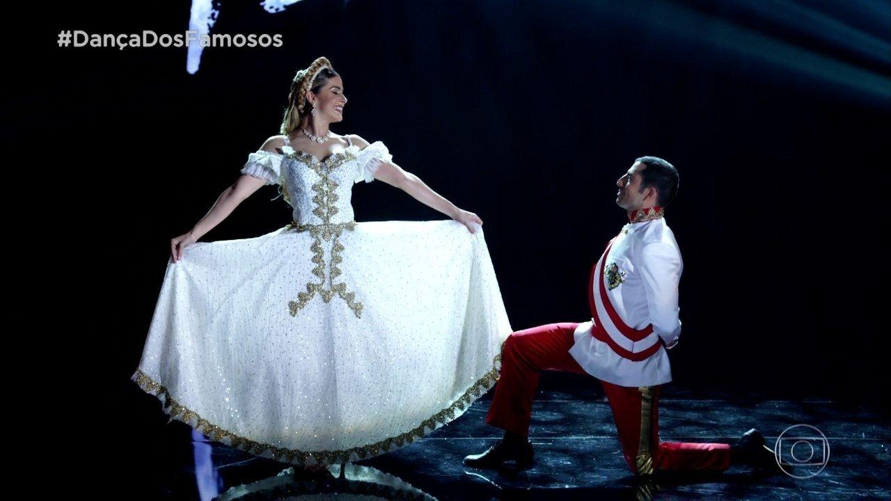 Kaysar Dadour e Mayara Araújo dançam valsa na final da 'Dança dos Famosos'