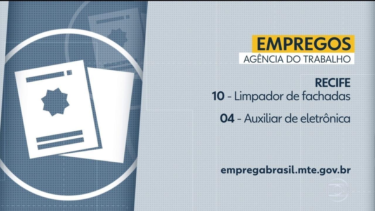 Confira as vagas de emprego disponíveis no Grande Recife