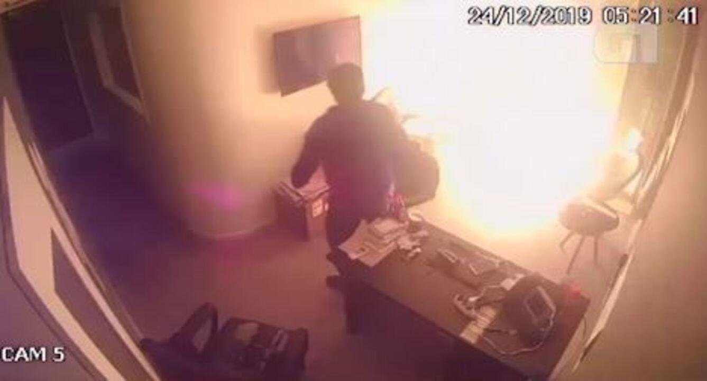 Câmera do interior da produtora do Porta dos Fundos mostra outro ângulo do ataque