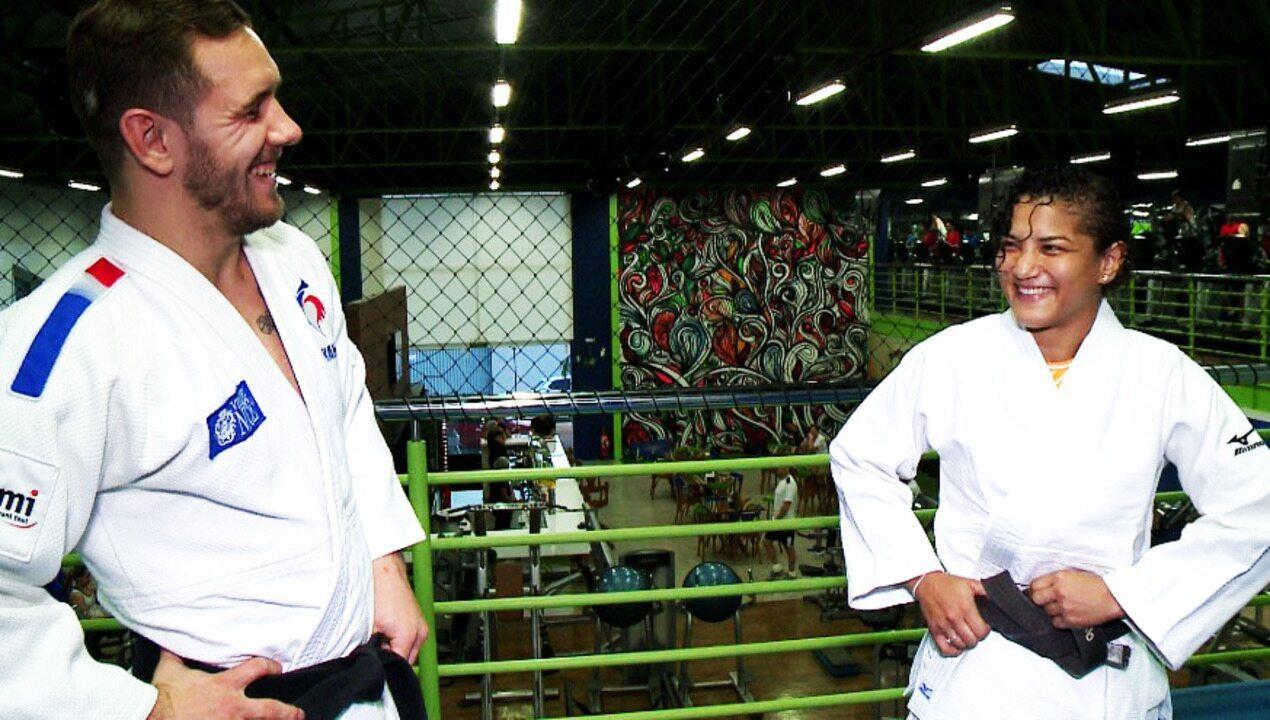 Ao lado do noivo, Sarah Menezes treina em Teresina para os torneios internacionais 2020