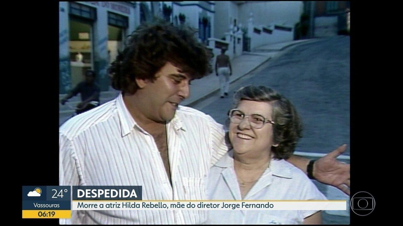 O velório da atriz Hilda Rebello acontece na manhã dessa segunda-feira (30)