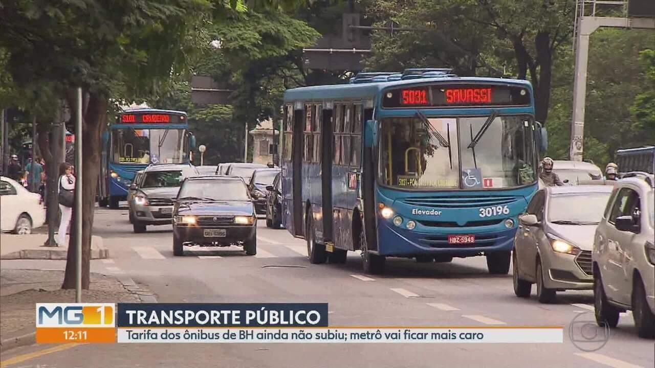 Tarifas de ônibus seguem sem reajuste em Belo Horizonte apesar de decisão da Justiça