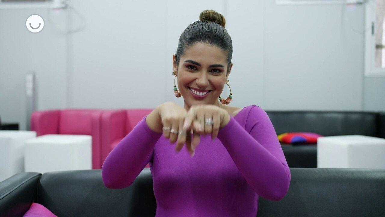 Vivian Amorim conta seus cuidados para o verão nos bastidores do 'SóTocaTop'
