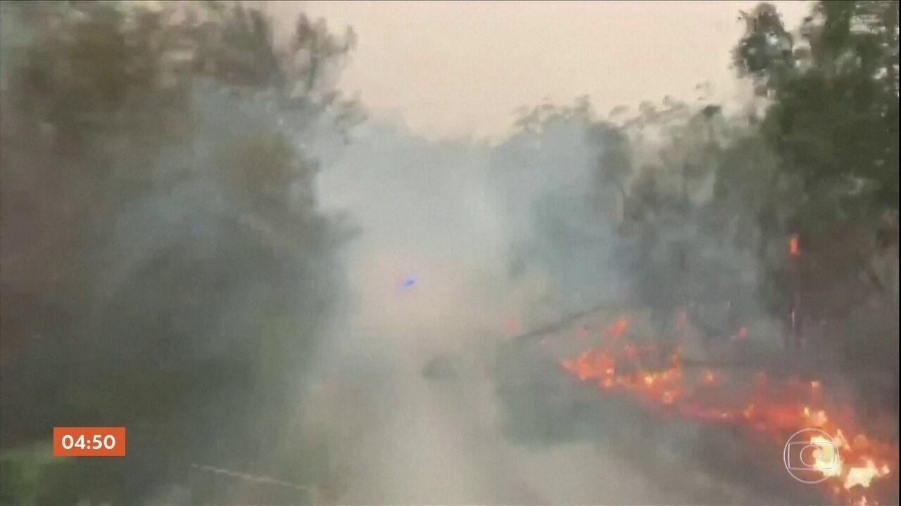 Vinte e quatro pessoas já morreram nos incêndios florestais na Austrália