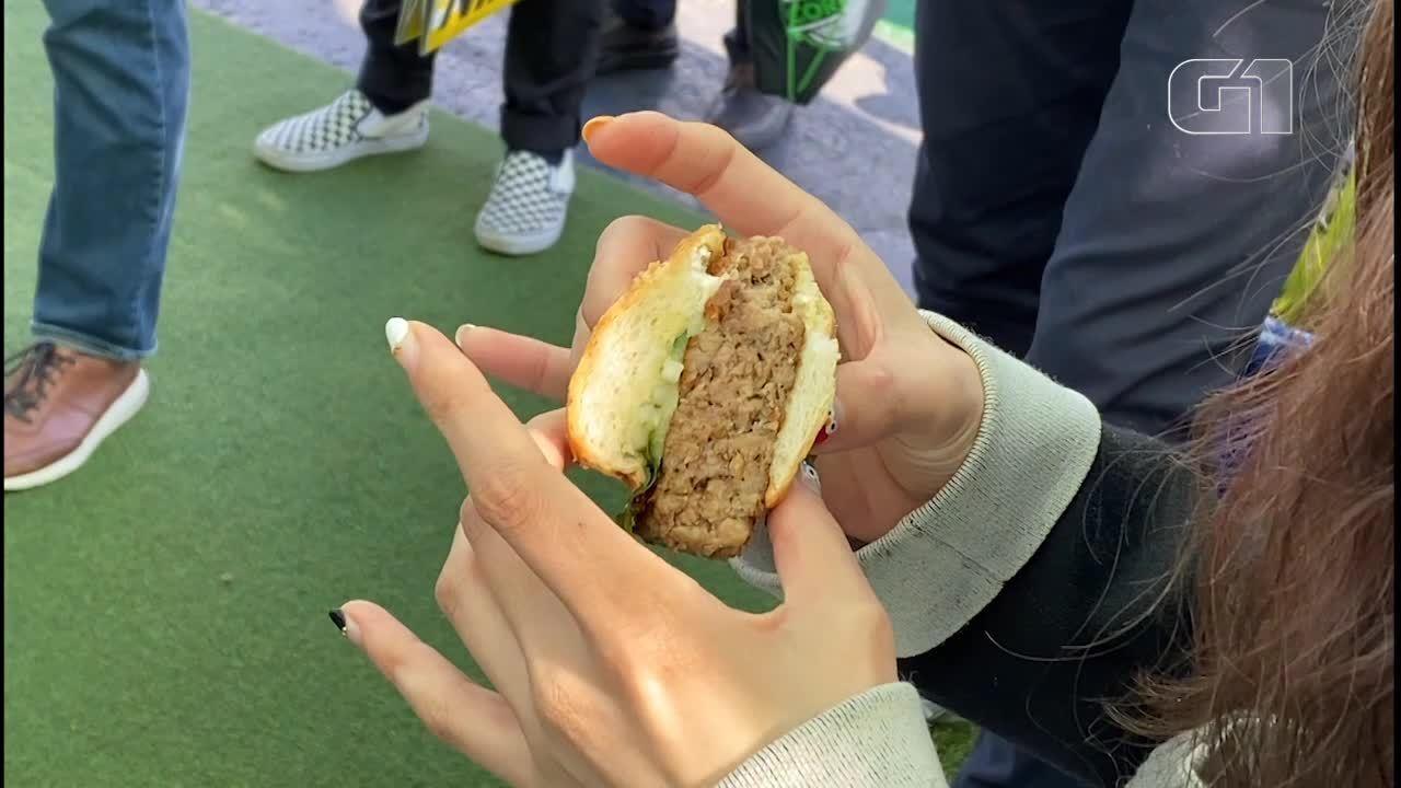 'Carne de porco' feita de vegetais é destaque em feira; G1 provou