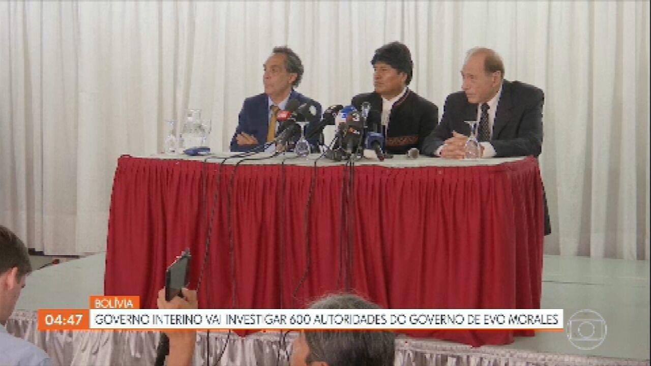 Governo interino da Bolívia vai investigar 600 autoridades do governo de Evo Morales
