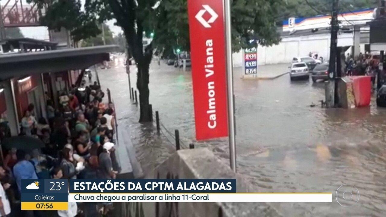 Chuva alagou estações da CPTM