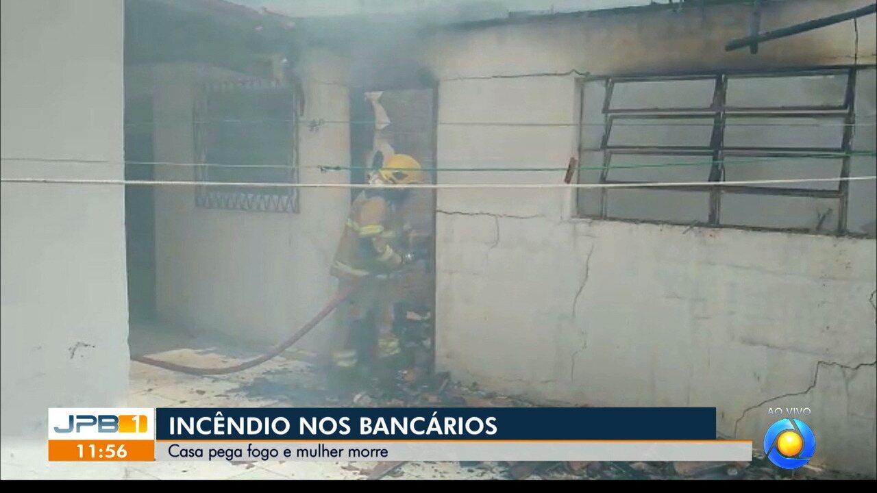 Mulher morre em incêndio em João Pessoa