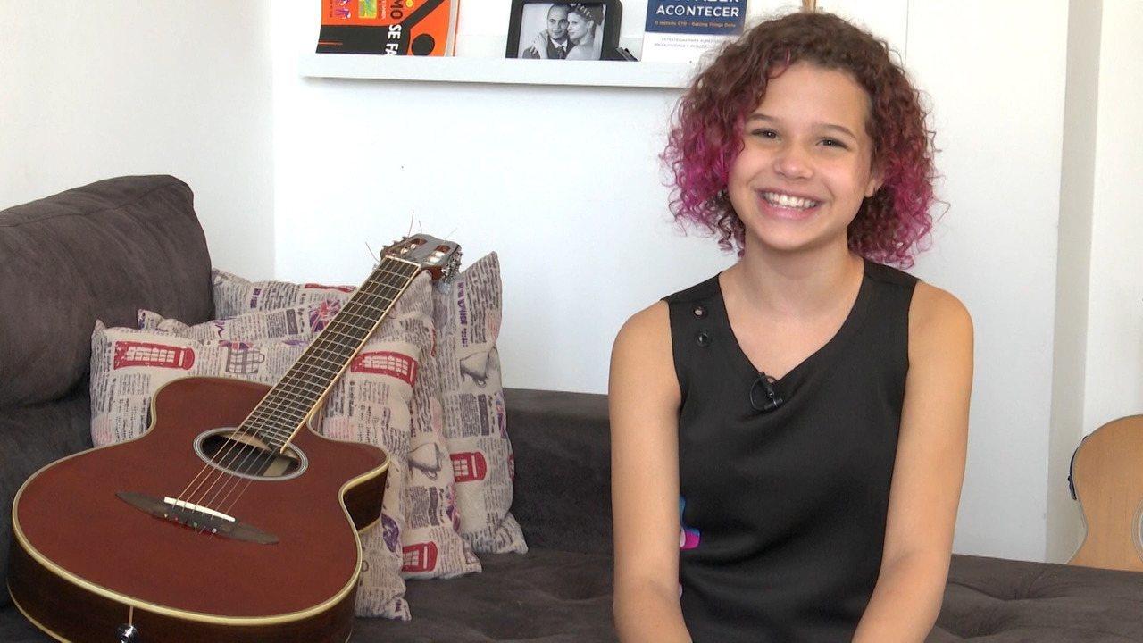 Analu Sampaio, baiana do 'The Voice Kids', conta como está sendo a experiência no programa