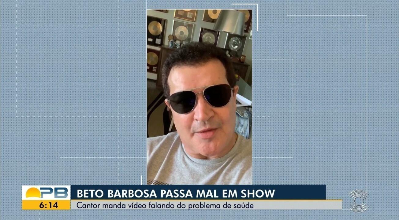 Beto Barbosa passa mal e interrompe show em João Pessoa sob aplausos do público