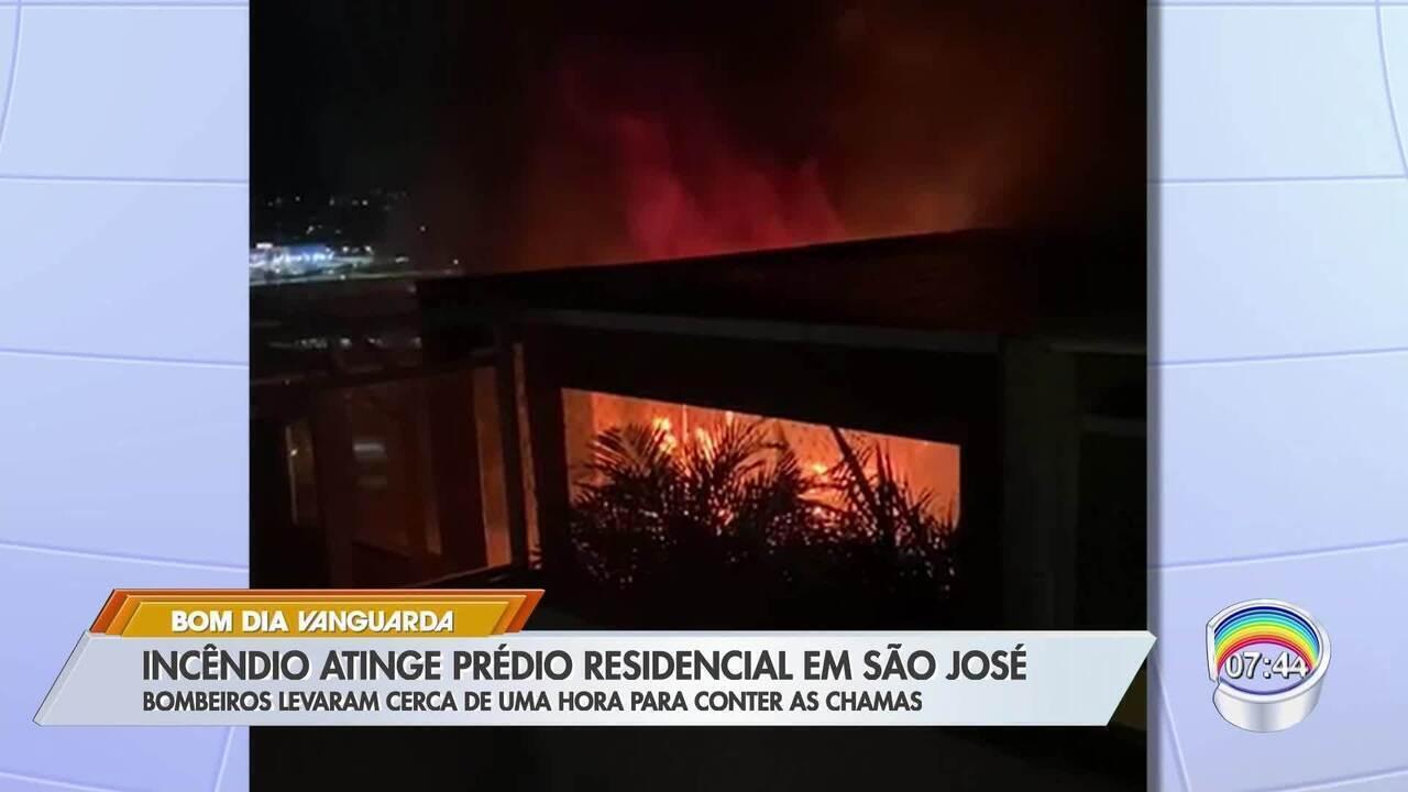 Incêndio atinge apartamento em São José dos Campos