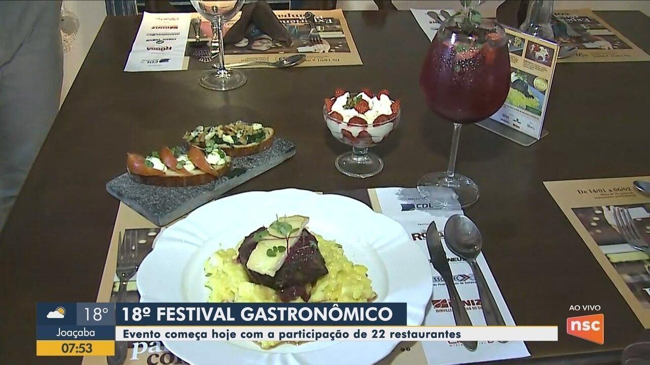Joinville sedia 18º Festival Gastronômico com a participação de 22 restaurantes