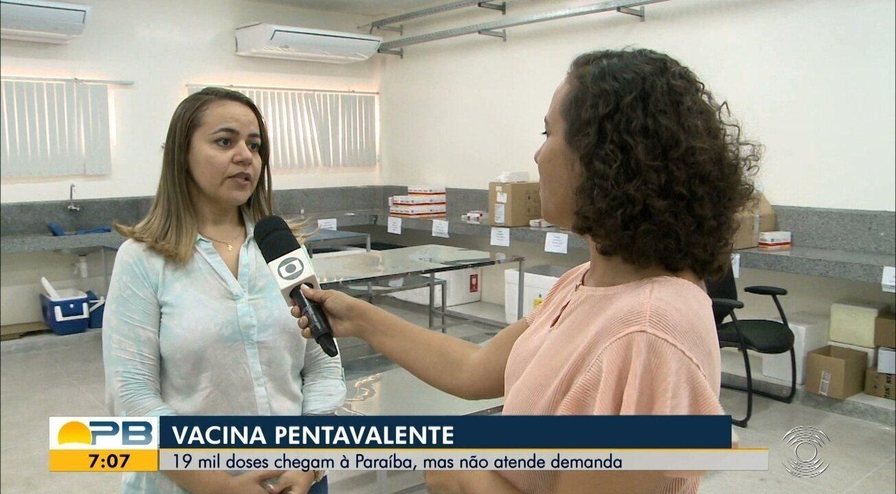 Vacina Pentavalente; 19 mil doses chegam à Paraíba, mas não atende demanda