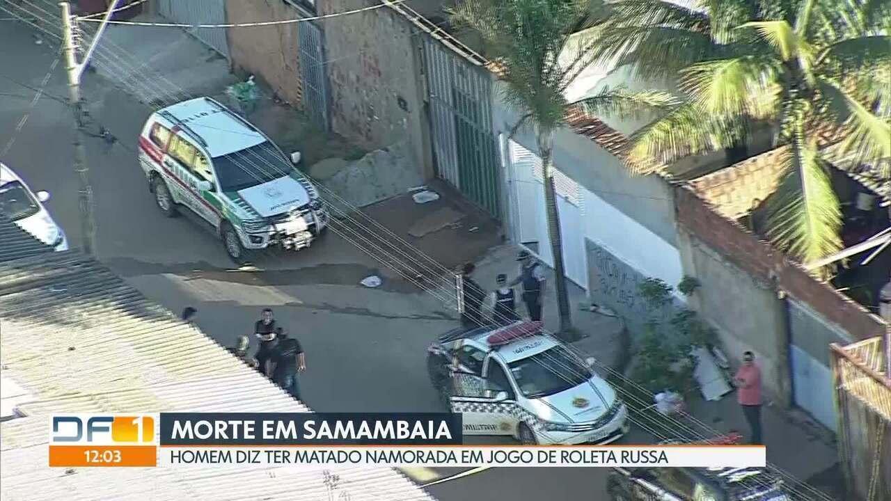 Mulher morre baleada em Samambaia; namorado diz que estavam brincando de roleta russa