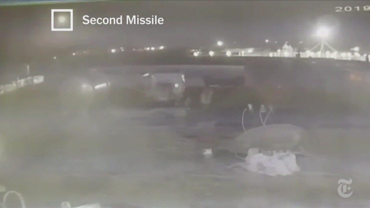 Vídeo mostra momento em que mísseis atingem avião no Irã