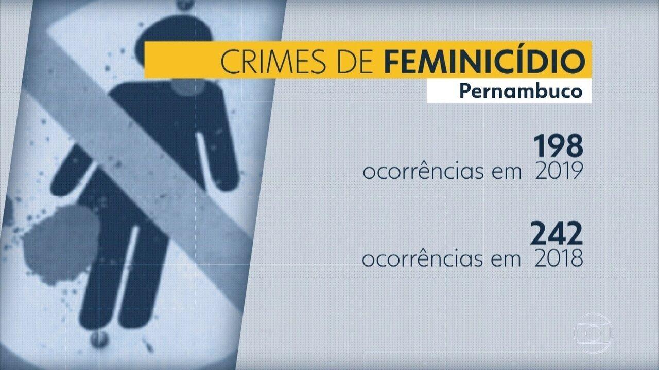 Pernambuco reduz número de feminicídios e roubos em 2019, diz governo