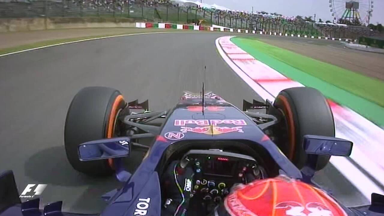 Primeira volta de Max Verstappen num fim de semana oficial de GP de F1