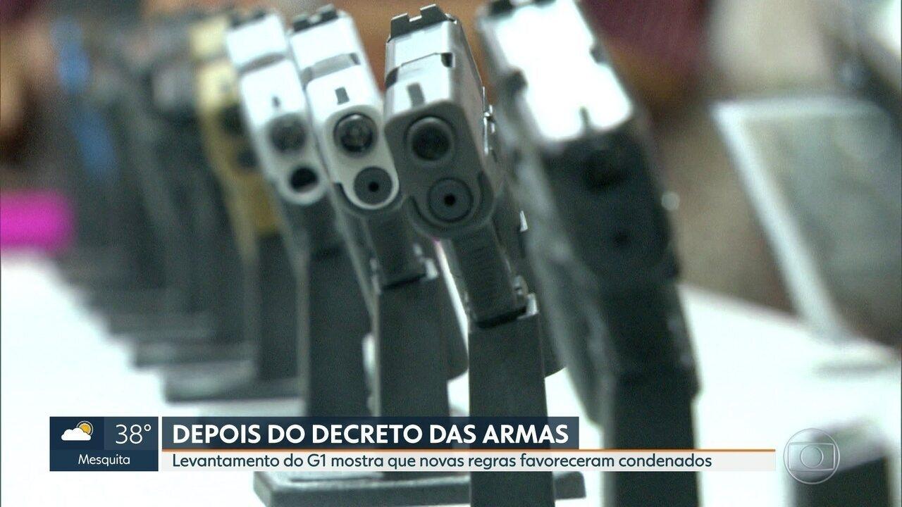Decretos que flexibilizam posse de armas favorecem presos condenados no RJ