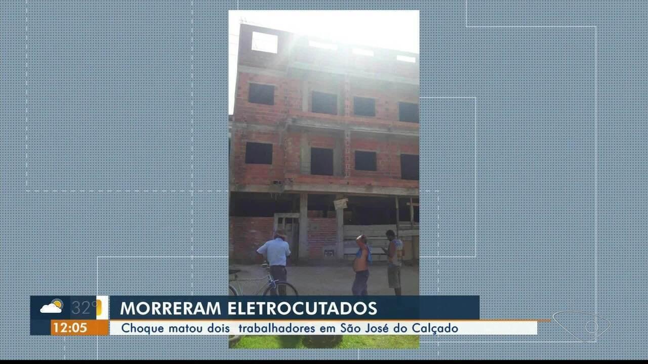 Descarga elétrica mata dois trabalhadores em São José do Calçado, ES