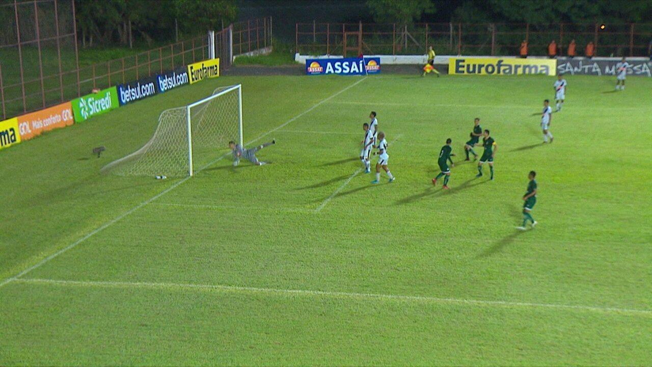 Melhores momentos de Goias 2 4 Vasco pelas oitavas da Copa SP de Futebol