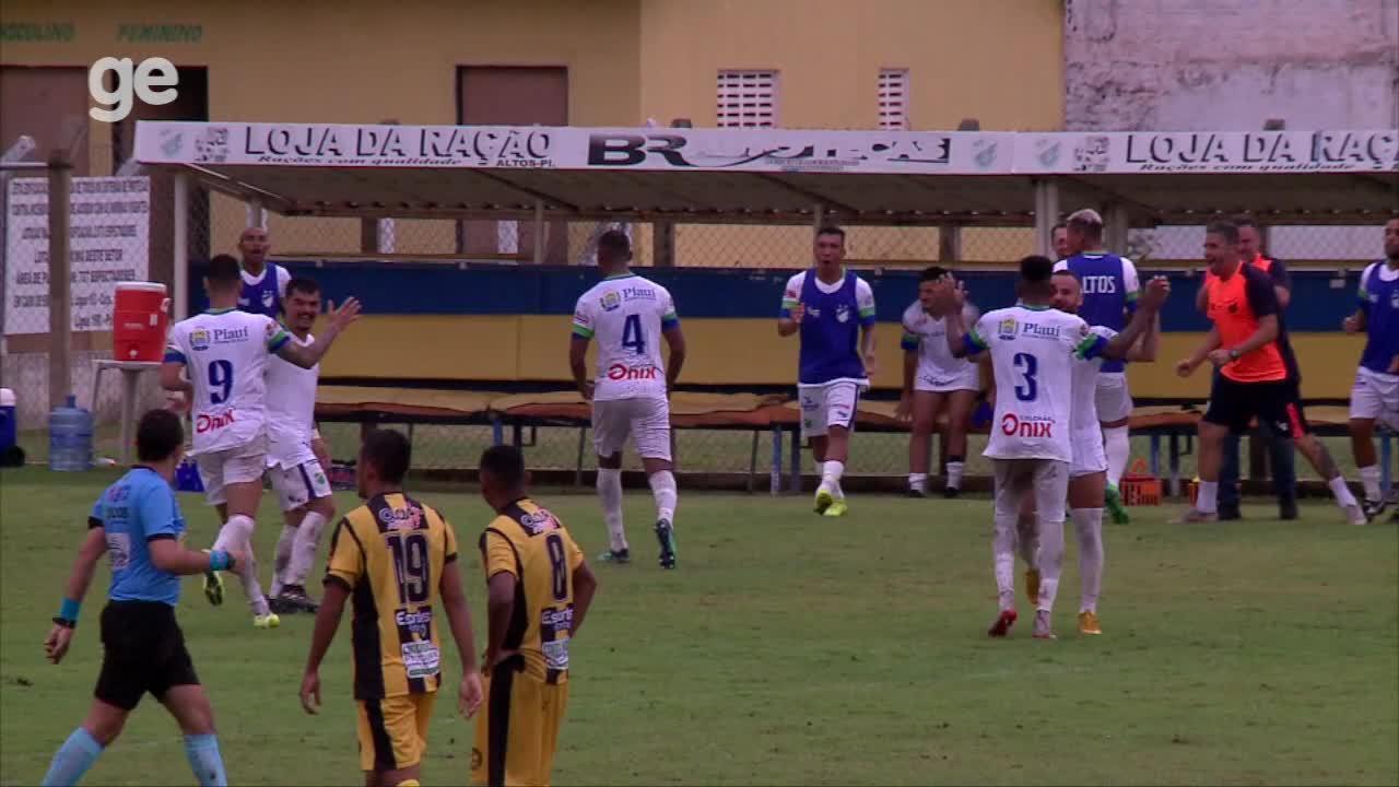 Os gols de Altos 2 x 1 Timon-PI - 1ª rodada do Campeonato Piauiense