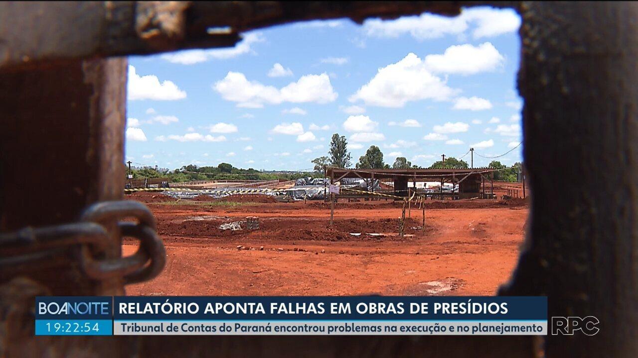 Tribunal de Contas do Paraná aponta falhas em obras de presídios