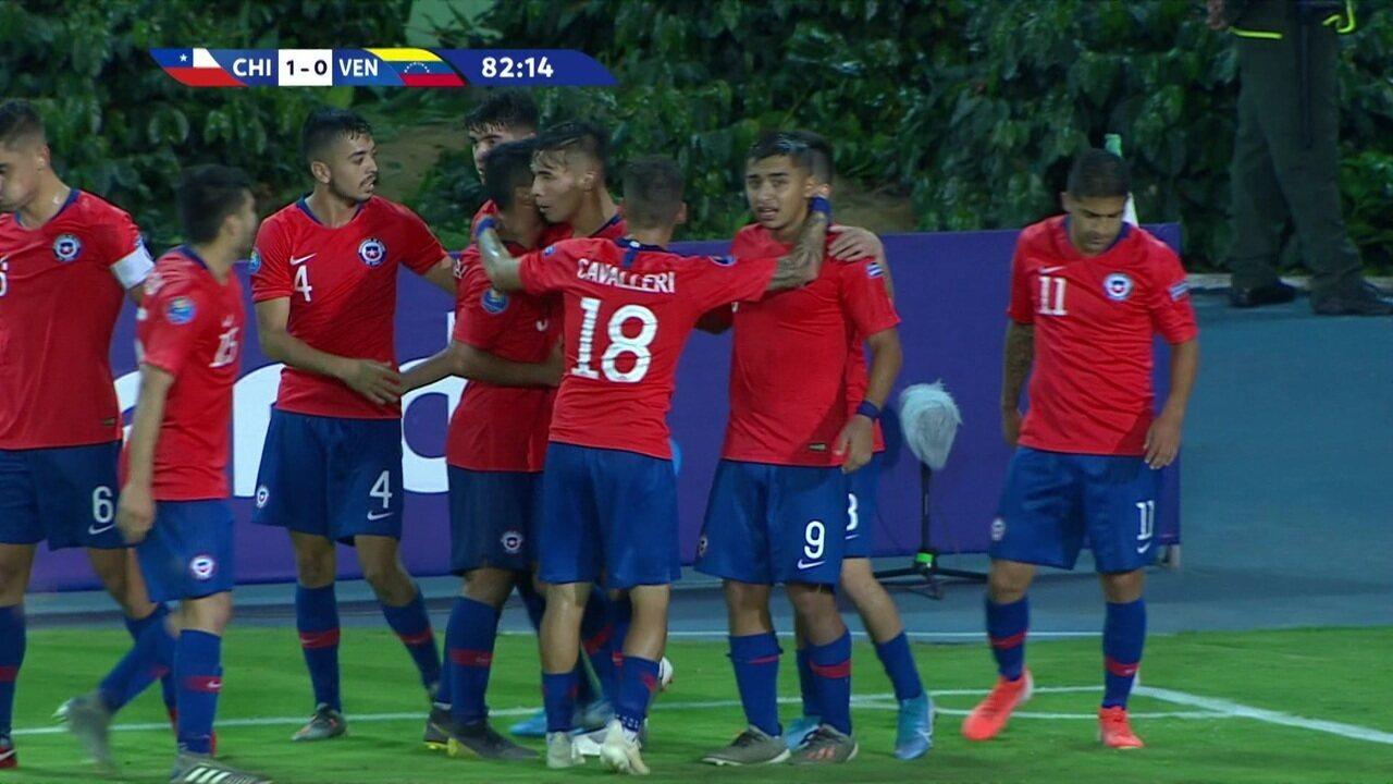 O gol de Chile 1 x 0 Venezuela pelo Pré-olímpico de futebol sub-23