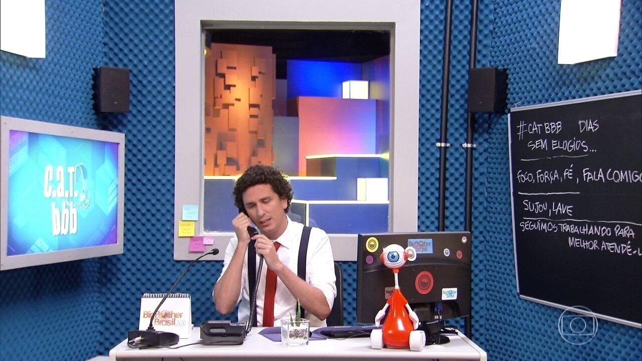 Tiago Leifert anuncia o comando de Rafael Portugal no quadro 'CAT BBB'