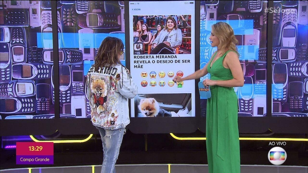 'Se Joga' invade o celular de Roberta Miranda