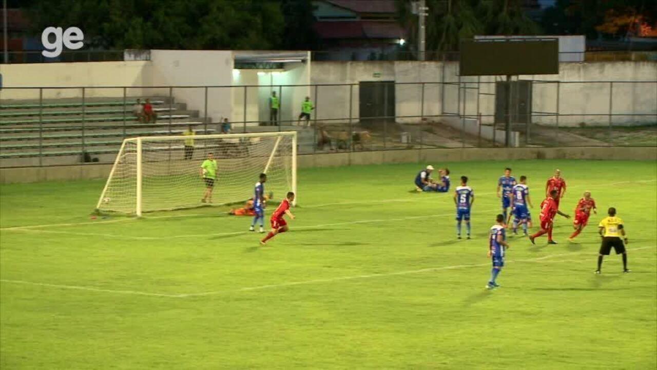 Os gols de 4 de Julho 1 x 1 Parnahyba pela segunda rodada do Piauiense