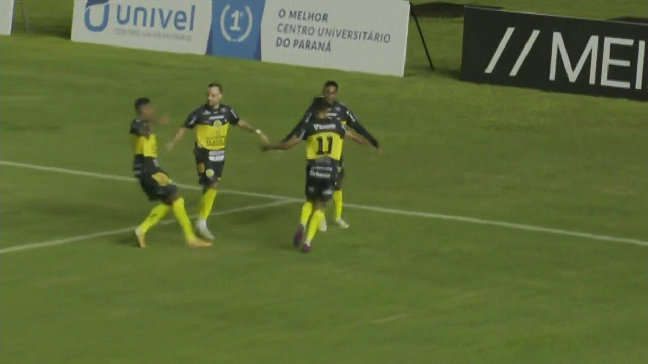 Veja o gol de FC Cascavel 1 x 0 Operário-PR, pela segunda rodada do Paranaense