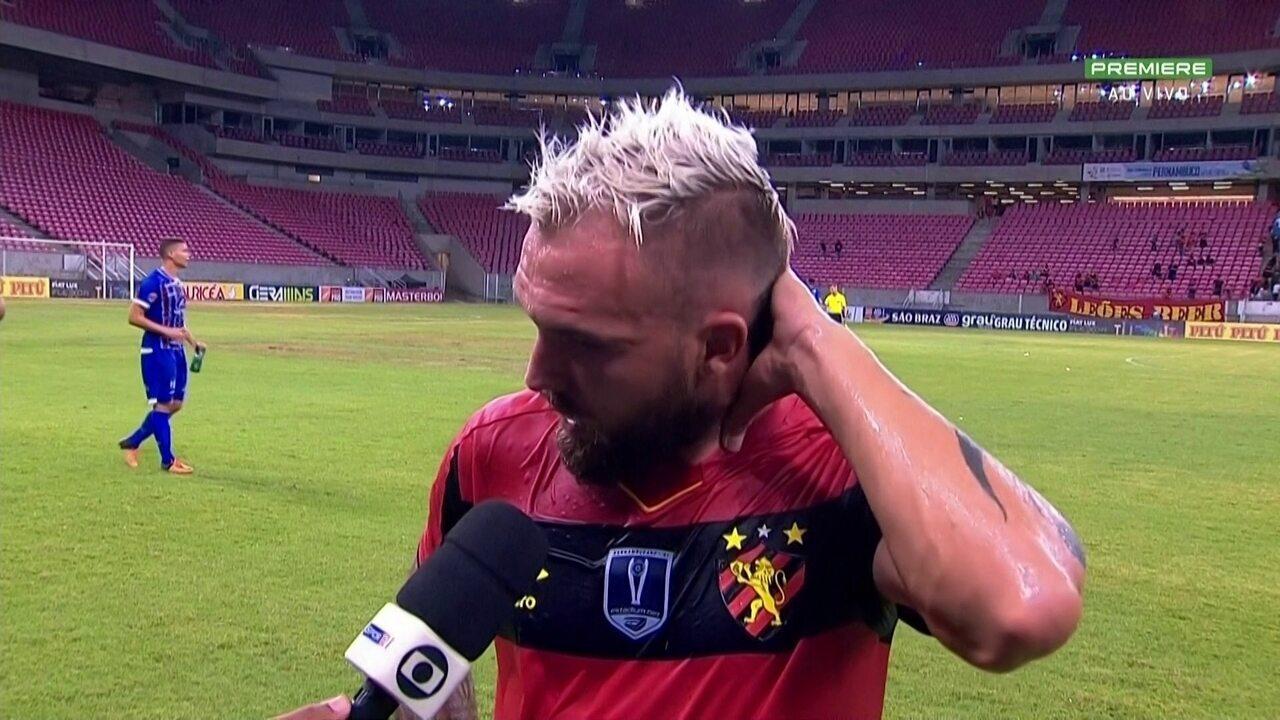 Após falha, Willian Farias assume culpa por Sport não vencer o Vitória-PE