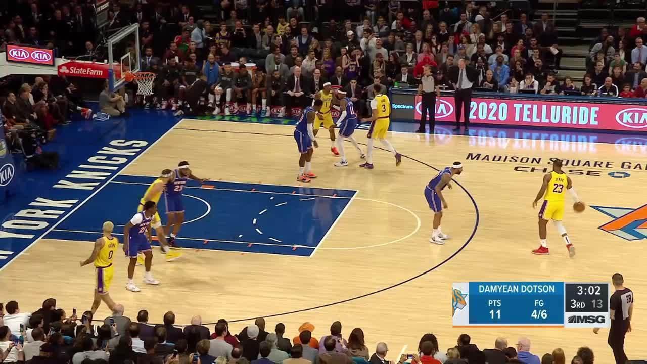 Melhores momentos: Los Angeles Lakers 100 x 92 New York Knicks pela NBA