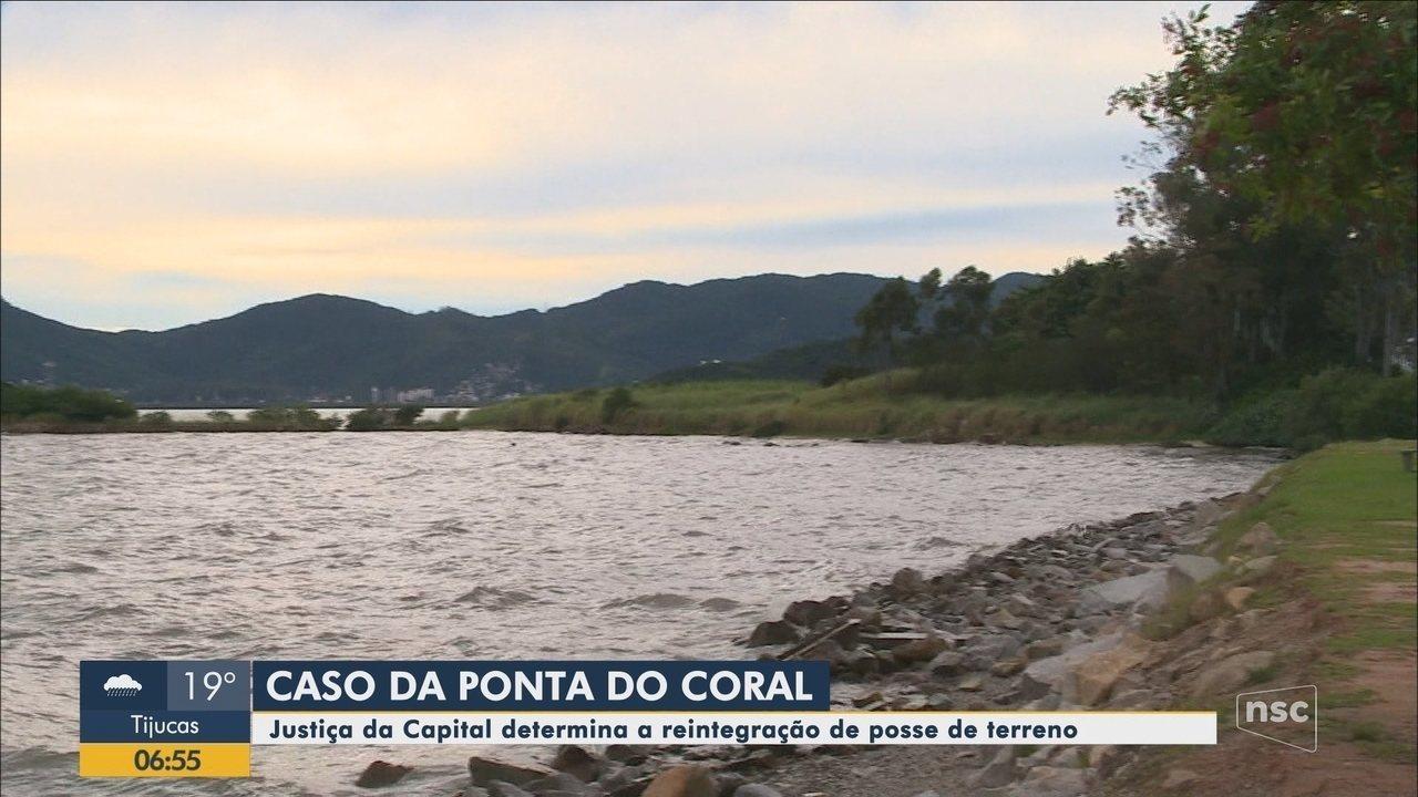 Justiça determina reintegração de posse da Ponta do Coral em Florianópolis