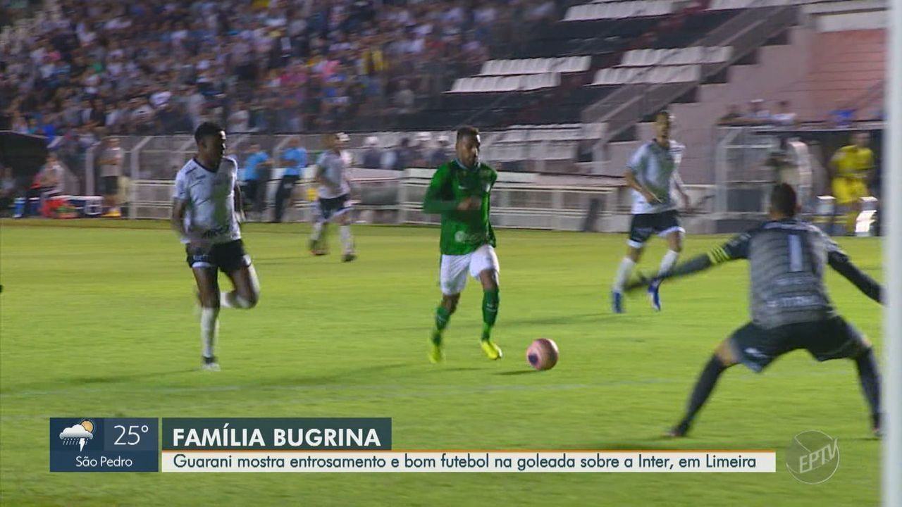 Guarani goleia e estraga a estreia de Elano como técnico da Inter de Limeira