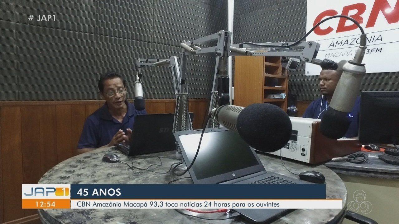 Rede Amazônica Amapá 45 anos: CBN Amazônia busca captar ouvintes com notícias 24 horas