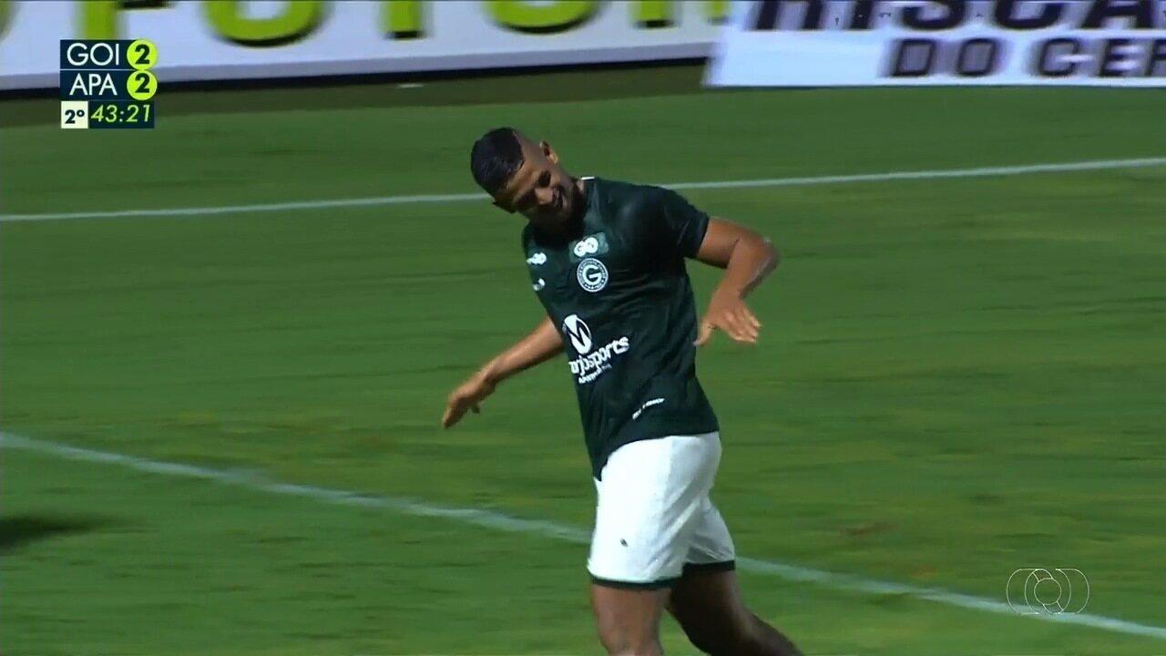 Os gols de Goiás 3x2 Aparecidense pelo Campeonato Goiano