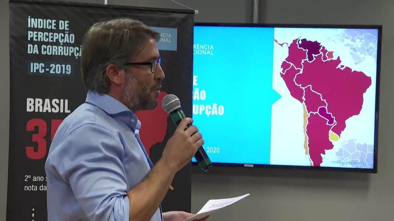 Brasil perde posição no ranking de percepção da corrupção