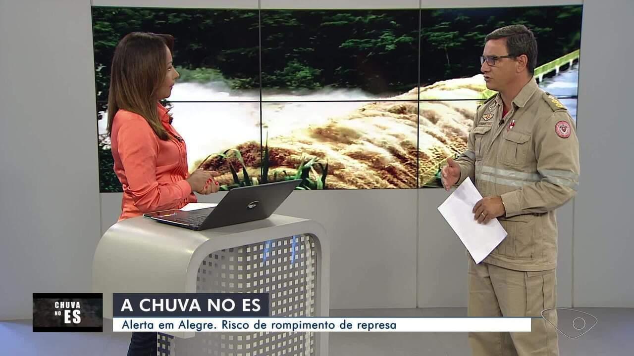 Prefeitura de Alegre e governo do ES alertam para risco de rompimento de barragem