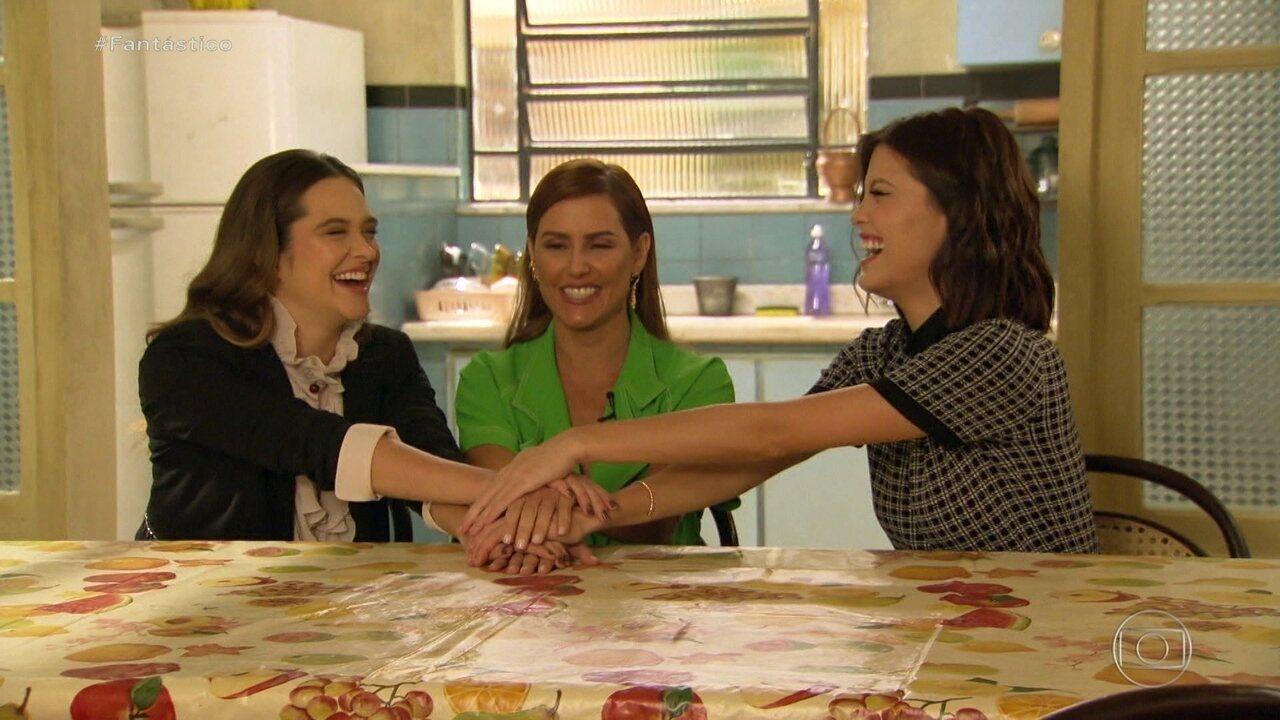 'Salve-se Quem Puder': Deborah Secco, Vitória Strada e Ju Paiva contracenam pela 1ª vez